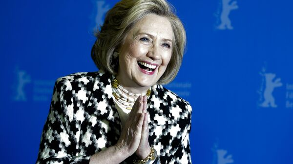 Former US Secretary of State, Hillary Clinton, poses for the photographers during a photo-call for the film 'Hillary' ' during the 70th International Film Festival Berlin, Berlinale in Berlin, Germany, Tuesday, Feb. 25, 2020 - Sputnik International