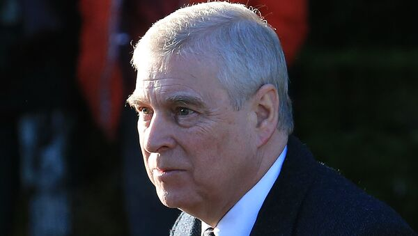 Britain's Prince Andrew, Duke of York, arrives to attend a church service at St Mary the Virgin Church in Hillington, Norfolk, eastern England, on 19 January 2020. - Sputnik International
