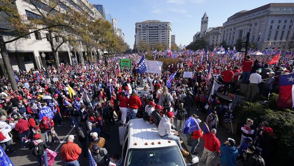Supporters of President Donald Trump rally at Freedom Plaza on Saturday, Nov. 14, 2020, in Washington. - Sputnik International