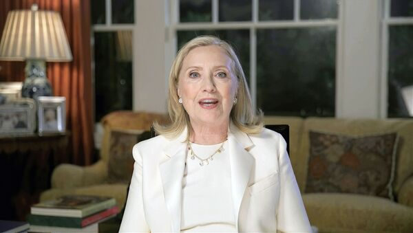 In this image from video, former Secretary of State Hillary Clinton speaks during the third night of the Democratic National Convention on Wednesday, Aug. 19, 2020.  - Sputnik International