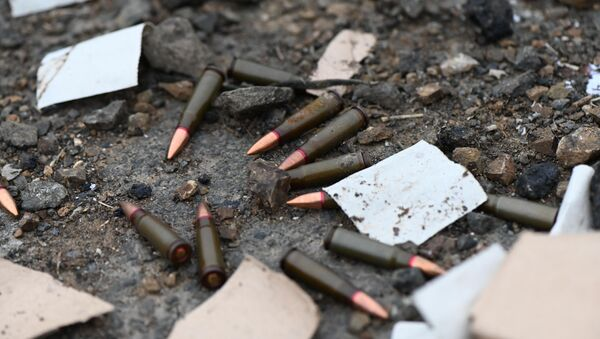 Bullets are seen on the road, in the self-proclaimed Nagorno-Karabakh Republic - Sputnik International