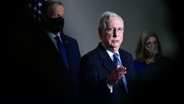 U.S. Senate Majority Leader Mitch McConnell (R-KY) speaks after a Senate republican luncheon on Capitol Hill in Washington, U.S., November 10, 2020.  - Sputnik International