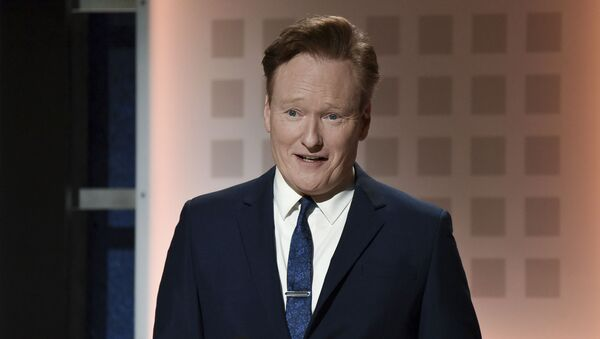Conan O'Brien onstage at the 19th Annual Movies For Grownups Awards at the Beverly Wilshire Hotel on Saturday, Jan. 11, 2020, in Beverly Hills, Calif. (Photo by Richard Shotwell/Invision/AP) - Sputnik International