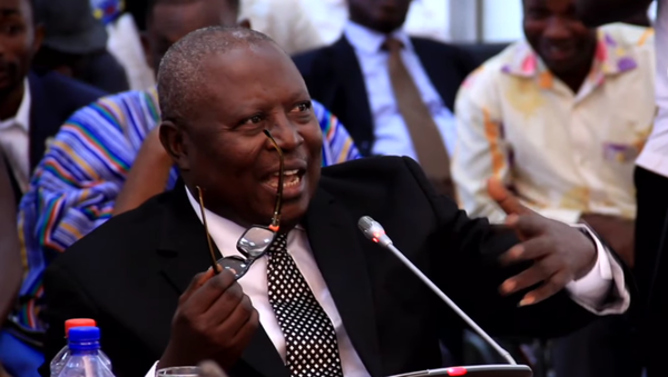Former Ghanian Special Prosecutor Martin Amidu answers questions by the Parliamentary Appointments Committee in February 2018 - Sputnik International