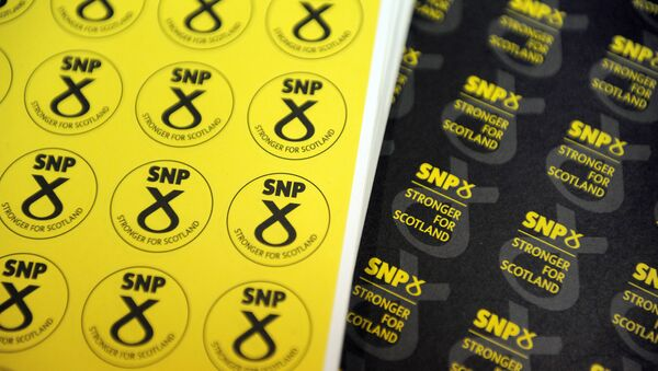 Memorabilia is on sale at a stand at the Scottish National Party (SNP) Conference in Glasgow, Scotland on October 15, 2016 - Sputnik International