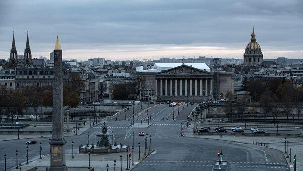 Вид сверху на площадь Согласия и здание Национального собрания в Париже, Франция - Sputnik International