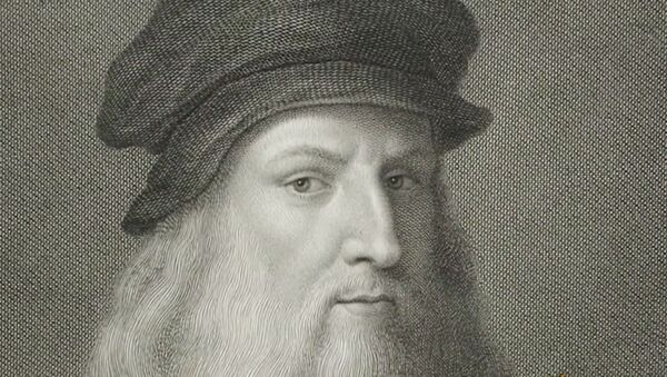 Screenshot captures image of Italian painter Leonardo da Vinci, whose works have recently come under renewed scrutiny amid beliefs that newly discovered red chalk painting may be his work. - Sputnik International