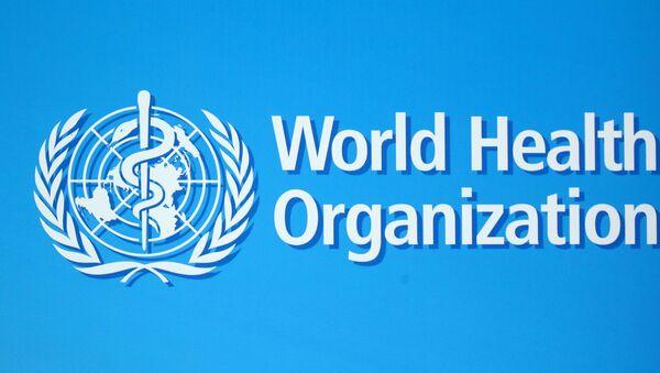 A logo of the World Health Organization (WHO), is seen before a news conference in Geneva, Switzerland, June 25, 2020.  - Sputnik International