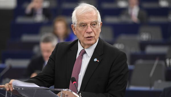 European Union High Representative for Foreign Affairs and Security Policy Josep Borell speaks during a debate at the European Parliament on January 14, 2020 in Strasbourg, eastern France. - Sputnik International