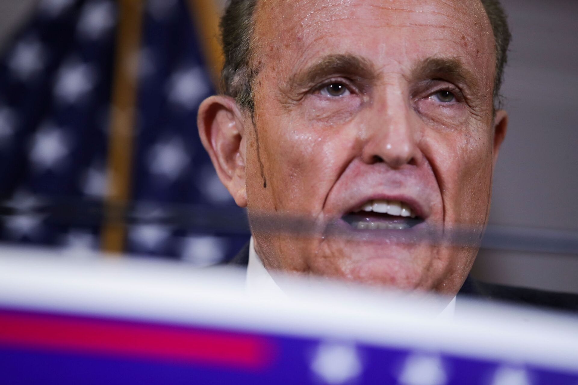 Former New York City Mayor Rudy Giuliani, personal attorney to U.S. President Donald Trump, speaks during a news conference about the 2020 U.S. presidential election results at Republican National Committee headquarters in Washington, U.S., November 19, 2020. REUTERS/Jonathan Ernst - Sputnik International, 1920, 07.09.2021