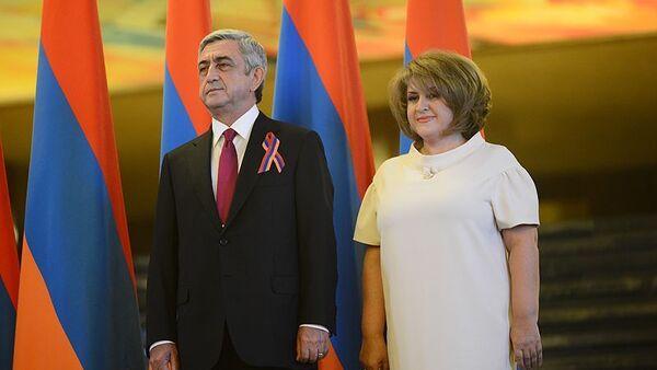 Rita and Serzh Sargsyan - Sputnik International