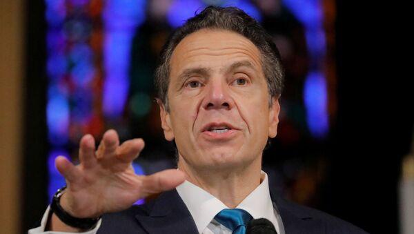 New York Governor Andrew Cuomo delivers remarks on the coronavirus disease (COVID-19) at the Riverside Church in Manhattan, New York City, U.S., November 15, 2020.  - Sputnik International