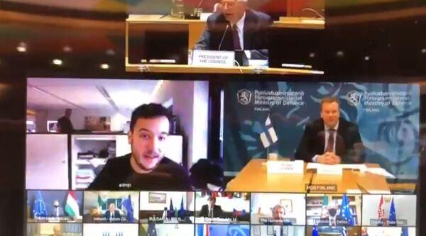 Screenshot of the EU defence ministers' meeting's hack - Sputnik International