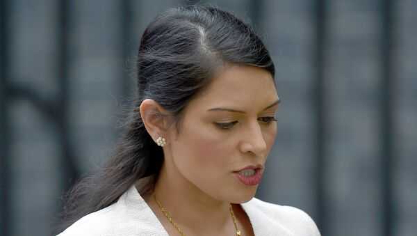 Priti Patel, now Britain's interior minister, leaves after a cabinet meeting in Downing Street in central London, Britain June 27, 2016.  - Sputnik International