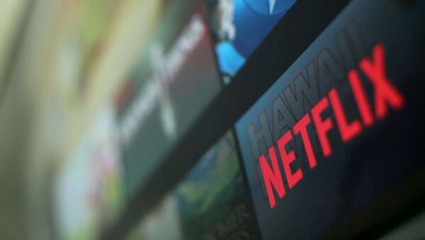 The Netflix logo is pictured on a television in this illustration photograph taken in Encinitas, California, U.S., January 18, 2017 - Sputnik International