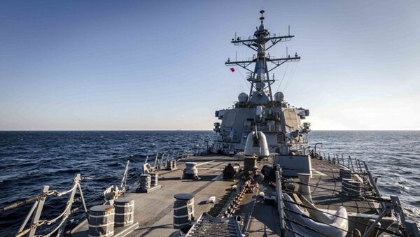 The Arleigh Burke-class guided-missile destroyer USS John S. McCain (DDG 56) transits through Peter the Great Bay while conducting routine underway operations. McCain is forward-deployed to the U.S. 7th Fleet area of operations in support of security and stability in the Indo-Pacific region - Sputnik International