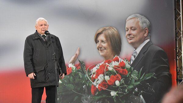 Former Polish Prime Minister Jarosław Kaczyński, brother of the President of Poland Lech Kaczyński. Basilica of St. John the Baptist in Warsaw, March of Remembrance, memory appeal in front of the Presidential Palace. Evening celebration of the 9th anniversary of the Smolensk disaster - Sputnik International