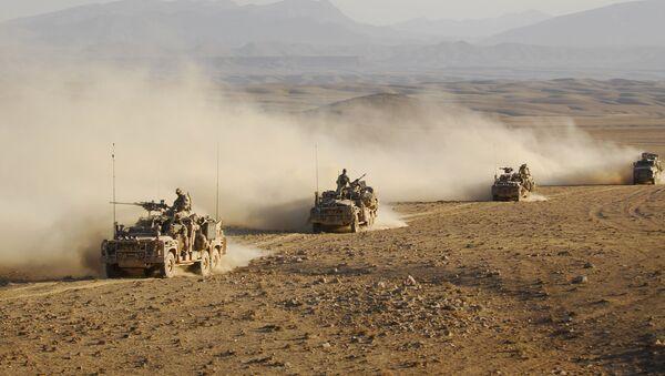 Australian Special Operations Task Groups Long Range Patrol Vehicles drive in convoy across one of Afghanistan's desert (File) - Sputnik International