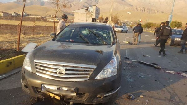 A view shows the scene of the deadly attack on prominent Iranian scientist Mohsen Fakhrizadeh, outside Tehran, Iran, 27 November 2020. - Sputnik International