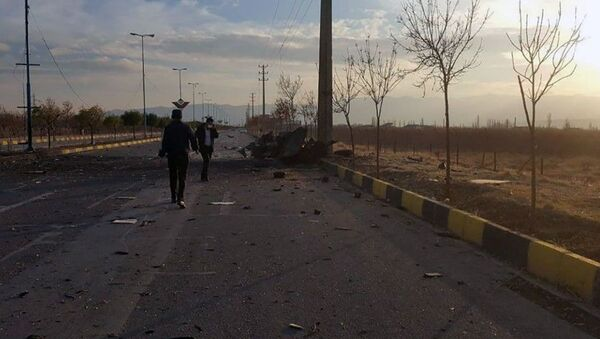 A view shows the site of the attack that killed prominent Iranian scientist Mohsen Fakhrizadeh, outside Tehran, Iran, 27 November 2020. - Sputnik International