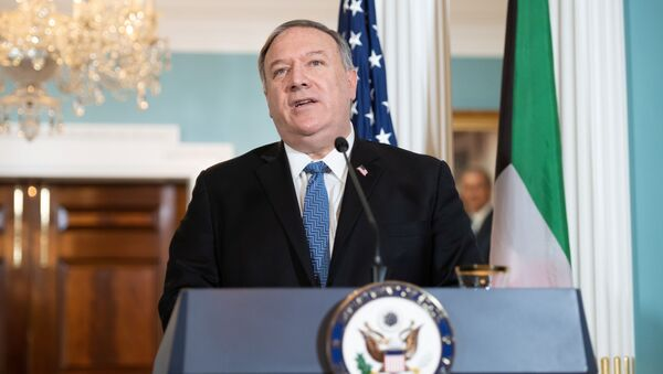 U.S. Secretary of State Mike Pompeo speaks to the media prior to meeting with Kuwait's Foreign Minister in Washington, D.C., U.S., November 24, 2020. - Sputnik International