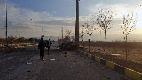 A view shows the site of the attack that killed Prominent Iranian scientist Mohsen Fakhrizadeh, outside Tehran, Iran, November 27, 2020.  - Sputnik International