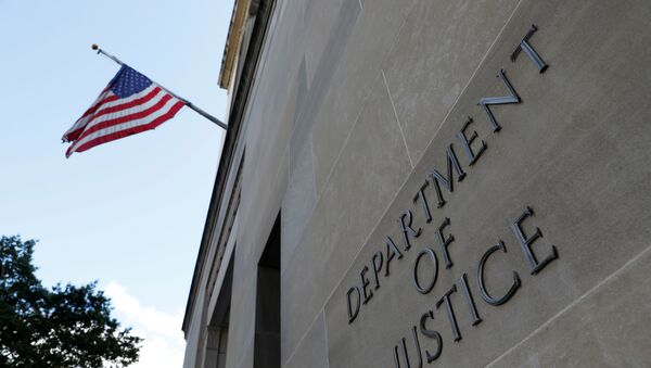 A sign at the United States Department of Justice headquarters in Washington, DC, 29 August 2020 - Sputnik International