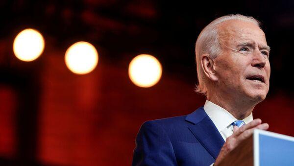 U.S. President-elect Joe Biden delivers a pre-Thanksgiving speech at his transition headquarters in Wilmington, Delaware, U.S., November 25, 2020.  - Sputnik International