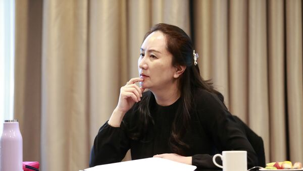 Huawei chief financial officer Meng Wanzhou attends an internal meeting amid an intermission in court proceedings in Canada - Sputnik International