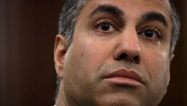 Chairman of Federal Communications Commission Ajit Pai testifies during an oversight hearing held by the U.S. Senate Commerce, Science, and Transportation Committee to examine the Federal Communications Commission (FCC), in Washington, U.S. June 24, 2020. - Sputnik International