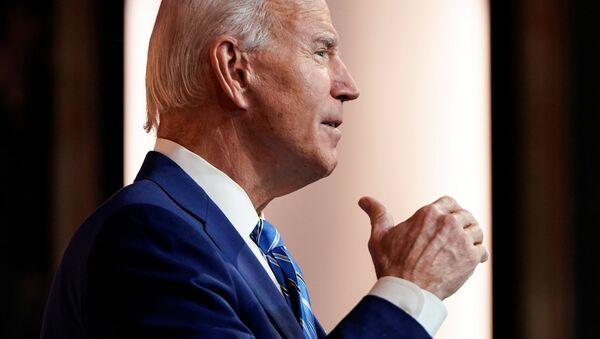 U.S. President-elect Joe Biden delivers a pre-Thanksgiving speech at his transition headquarters in Wilmington, Delaware, U.S., November 25, 2020 - Sputnik International