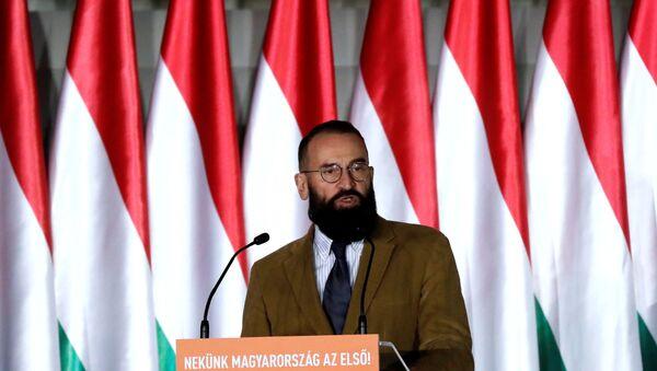 Jozsef Szajer, senior member of Fidesz party delivers his speech in Budapest - Sputnik International