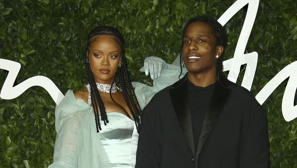 Singers Rihanna, left, and ASAP Rocky pose for photographers upon arrival at the British Fashion Awards in central London, Monday, Dec. 2, 2019 - Sputnik International