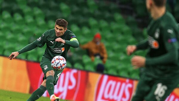 Krasnodar's Alexandr Martynovich during the fifth match of the group stage of the UEFA Champions League against Rennes - Sputnik International