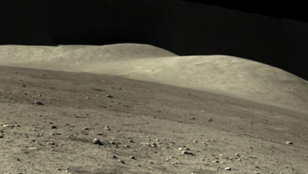 Detail from a panoramic shot of  Mons Rümker in Oceanus Procellarum, taken by the Chang'e-5 lunar lander - Sputnik International