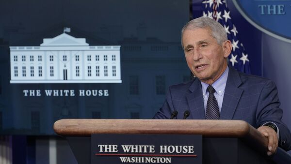 Dr. Anthony Fauci, director of the National Institute of Allergy and Infectious Diseases, speaks during a briefing with the coronavirus task force at the White House in Washington, Thursday, Nov. 19, 2020 - Sputnik International
