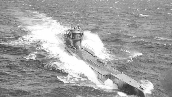 A German submarine U-278 in Atlantic waters.  - Sputnik International