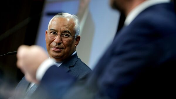 Portuguese Prime Minister Antonio Costa gives a joint press conference with European Council President at the end of a meeting, at the European Commission in Brussels, on December 1, 2020 - Sputnik International
