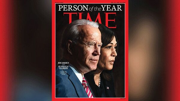 Time Magazine's Person of the Year 2020 cover featuring President-elect Joe Biden and Vice President-elect Kamala Harris - Sputnik International