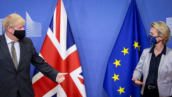 EU Commission President von der Leyen meets British PM Johnson in Brussels - Sputnik International