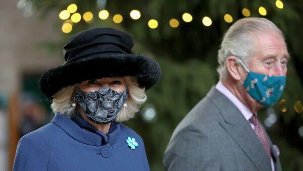 Britain's Prince Charles and Camilla, Duchess of Cornwall, visit Salisbury Cathedral - Sputnik International