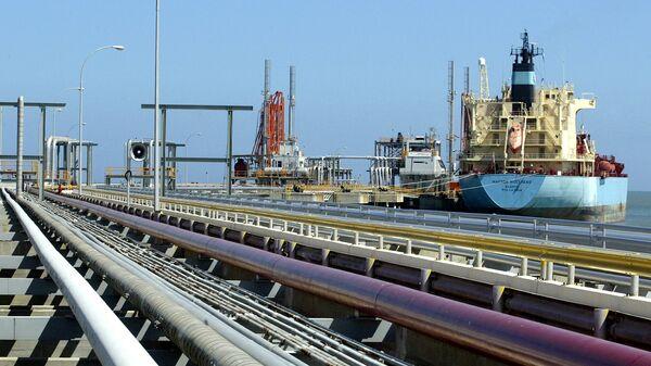 An oil tanker is seen at Jose refinery cargo terminal in Venezuela in this undated file photo - Sputnik International