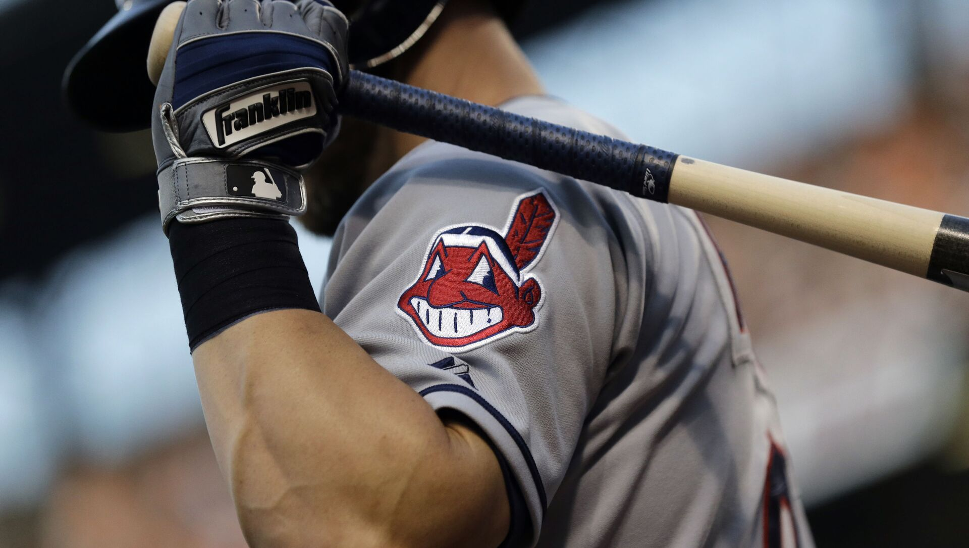 FILE - This June 26, 2015, file photo, shows the Cleveland Indians logo on a jersey during a baseball game against the Baltimore Orioles in Baltimore - Sputnik International, 1920, 25.07.2021