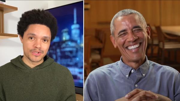 Barack Obama speaks on The Daily Show with Trevor Noah. - Sputnik International