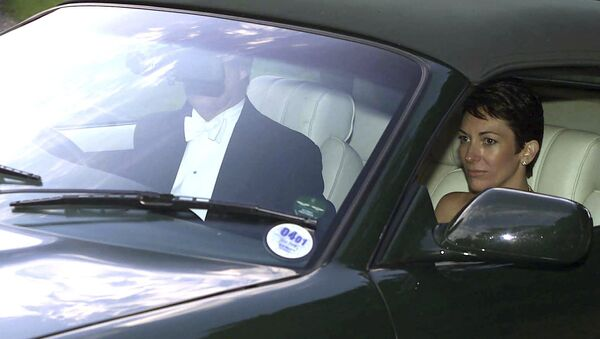 n this Sept. 2, 2000 file photo, British socialite Ghislaine Maxwell, driven by Britain's Prince Andrew leaves the wedding of a former girlfriend of the prince, Aurelia Cecil, at the Parish Church of St Michael in Compton Chamberlayne near Salisbury, England. The FBI said Thursday July 2, 2020, Ghislaine Maxwell, who was accused by many women of helping procure underage sex partners for Jeffrey Epstein, has been arrested in New Hampshire.  - Sputnik International