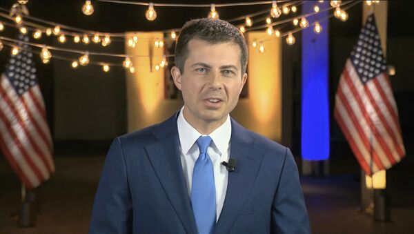 In this image from video, former South Bend Mayor Pete Buttigieg speaks during the fourth night of the Democratic National Convention on Thursday, Aug. 20, 2020. - Sputnik International