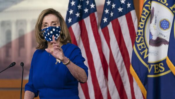 House Speaker Nancy Pelosi, of Calif., speaks during her weekly briefing, Friday, Nov. 20, 2020, in Washington. - Sputnik International