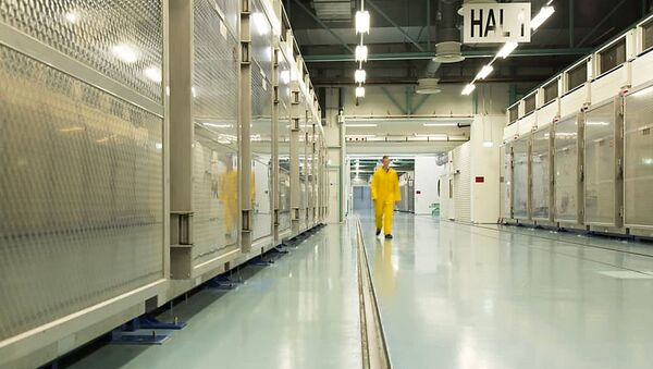 A handout picture released by Iran's Atomic Energy Organization on November 6, 2019, shows the interior of the Fordo (Fordow) Uranium Conversion Facility in Qom, in the north of the country - Sputnik International