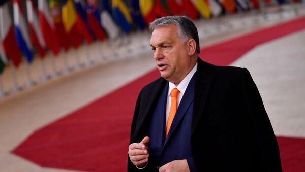 Hungarian PM Viktor Orban at a EU leaders summit in Brussels - Sputnik International