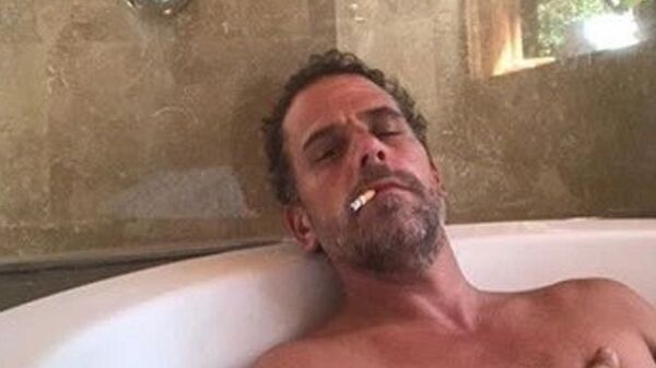 Photo of Hunter Biden relaxing in a bathtub, reportedly taken from a computer dropped off at a Delaware computer repair shop. - Sputnik International